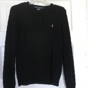 Black polo Ralph Lauren sweater